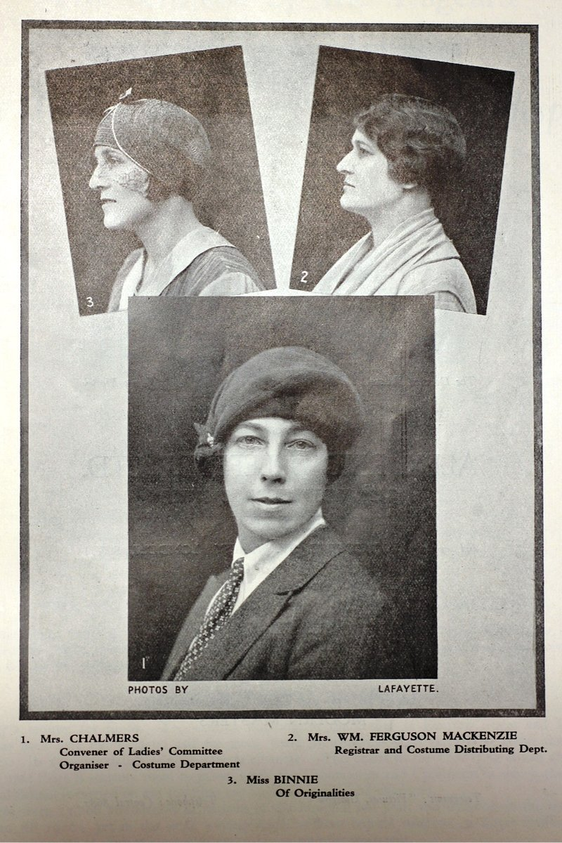 Ladies involved in the organisation of the The Story of the West: A Pageant of the Britons, the Vikings, the Traders and the Clans (Glasgow 1928).