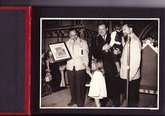 Janet Downton presenting an award following the Bury St Edmunds Pageant of Magna Carta 1959